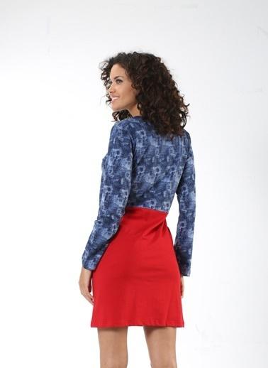 Mia Misenza Pamuklu Likralı Elbise Renkli